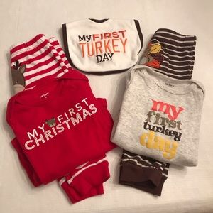 9 month old Carter's holiday matching sets